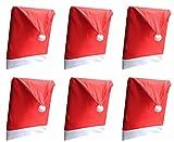 Zedtom Stuhlhusse Weihnachtsdeko Hussen für Stuhl - 50x60cm (6 Stück)