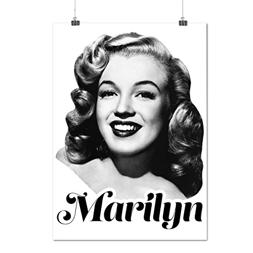 Célébrité Marilyn Diva Marilyn La vie Matte/Glacé Affiche A3 (42cm x 30cm)   Wellcoda