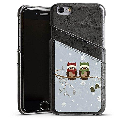 Apple iPhone 5s Housse étui coque protection Hibou Hibou Uhu Étui en cuir gris