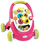 Smoby 110304 - Cotoons 2-in-1 Lauflernwagen plus Spielstation, rosa