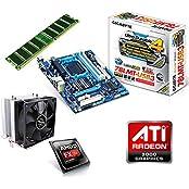 One PC Aufrüstkit | AMD FX-Series Bulldozer FX-8350, 8x 4.00GHz | montiertes Aufrüstset | Mainboard: Gigabyte GA-78LMT-USB3 | 8 GB RAM (1 x 8192 MB DDR3 Speicher 1600 MHz) | CPU Mainboard Bundle | Grafik: ATI Radeon HD 3000 | komplett fertig montiert!