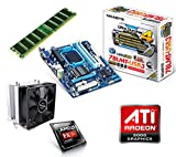 One PC Aufrüstkit | AMD FX-Series Bulldozer FX-8350, 8x 4.00GHz | montiertes Aufrüstset | Mainboard: Gigabyte GA-78LMT-USB3 | 4 GB RAM (1 x 4096 MB DDR3 Speicher 1600 MHz) | CPU Mainboard Bundle | Grafik: ATI Radeon HD 3000 | komplett fertig montiert!