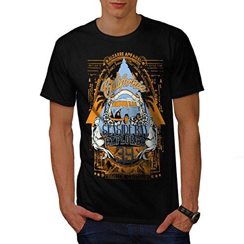 Strand Strand Kalifornien Bucht Kleider Herren L T-shirt | Wellcoda (Bucht Hawaii-shirt)