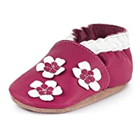 Ladeheid Soft Leather Baby Shoes with Anti-Slip Suede Soles LAFIO101