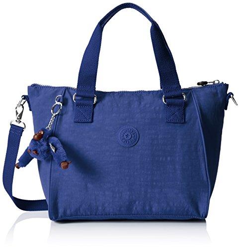 Kipling AMIEL Damen Henkeltaschen 27x24.5x14.5 cm (B x H x T), Blau (33V Jazzy Blue)