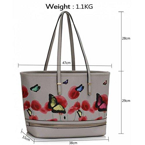 Trendstar Frau Entwerfer Handtaschen Damen Berühmtheit Stil Neu Imitat Leder Für Leinentrage Taschen Grau 1