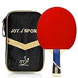 Joy.J, Racchetta da Ping Pong Professionale con Custodia, Racchetta TT con Gomma Approvata ITTF, Perfetta per Intermedio (aggiornata)