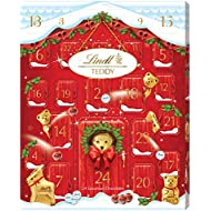 Lindt Teddy Advent Calendar, 24 Assorted Milk Chocolate Surprises, Teddy, Mini Teddy, Gold Reindeer, Napolitans, Lindor, Snowdrops, 250 g