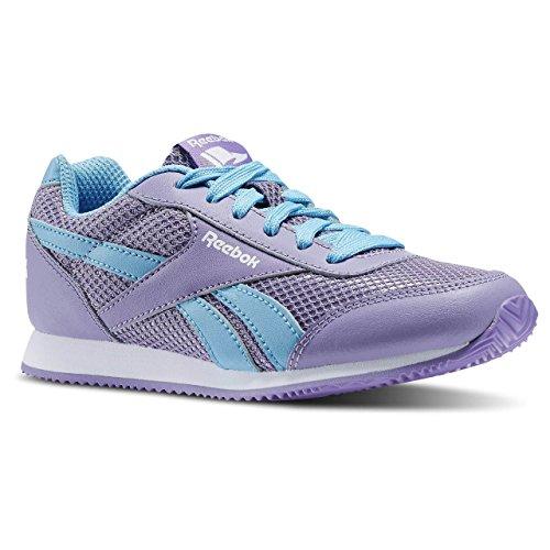 Reebok Mädchen Royal Cljog 2 Laufschuhe Dunkelviolett / Blau / Weiß (Smoky Violet/Blue Splash/Weiß)