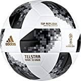 adidas Herren Telstar 18 Top Replique Ball, White/Black/Silver Metallic, 5