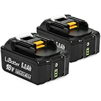 LiBatter (2 Packs) BL1850B 18V 5.0Ah/5000mAh Li-ion Batteries Compatible with Makita Battery LXT-400 BL1840 BL1830 BL1815 BL1835 BL1845 196673-6 LXT-400 Cordless Power Tool with LED Charge Indicator