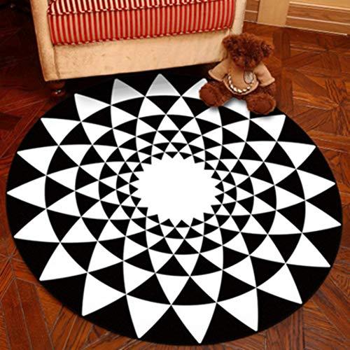 JWANS Runde Teppich rutschfeste Boden pad geometrische teppiche für Schlafzimmer Wohnzimmer Computer Stuhl Hang Basket mat