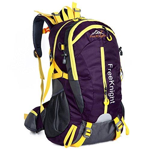 40L Wasserdicht Im Freien Lässige Kleidung Reisen Rucksack Licht Klettern Schulter Tasche Purple