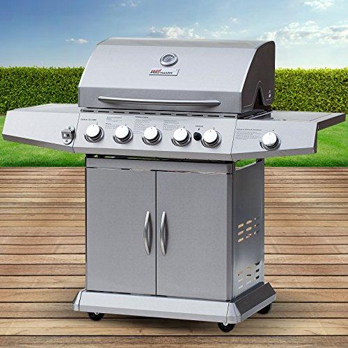 Grill-Barbecue design americano, con coperchio, adatto al butano e propano
