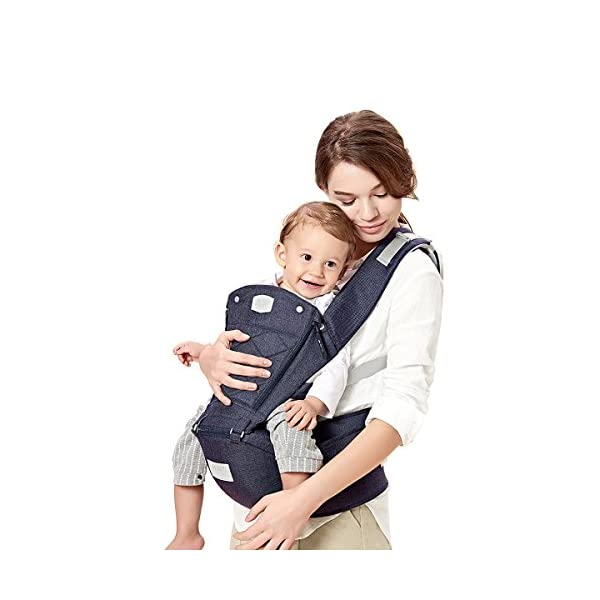 SONARIN 3 in 1 Breathable Hipseat Baby Carrier,Front Opening Design,Sun Protection,Multifunction,Adapted to Your Child's Growing, 100% Guarantee and Free DELIVERY,Ideal Gift(Blue) SONARIN Applicable age and Weight:0-36 months of baby, the maximum load: 25KG, and adjustable the waist size can be up to 47.2 inches (about 120 cm). Material:designers carefully selected soft and delicate Cationic twill cloth. Resistant to wash, do not fade, ensure the comfort and wear resistance, Inner pad: EPP Foam,high strength,safe and no deformation,to the baby comfortable and safe experience. Description:patented design of the auxiliary spine micro-C structure and leg opening design, natural M-type sitting.Widened shoulder strap, Widened seat surface, thickened cushion, let the baby and mother enjoy the joy. H-type bridge belt, effectively fixed shoulder strap position, to prevent shoulder straps fall, large buckle, intimate design, make your baby more secure. 3
