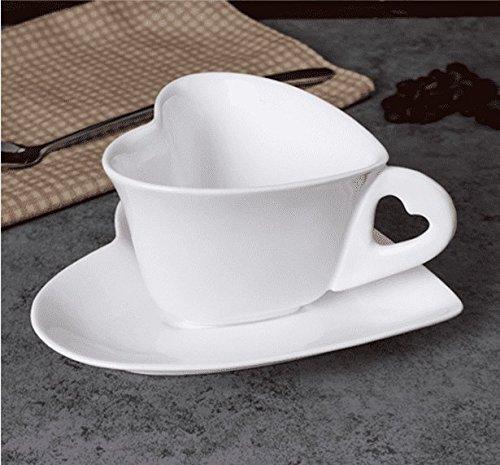 HONGYUANZHANG Espresso Kaffee Tasse Liebe Keramik Kaffeetasse Geschenk Tasse Büro Cup (9 * 12 cm)