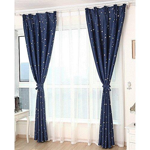 Verdunkeln wärmeisolierendem Verdunklungsvorhänge, Sichtschutz Fenster Vorhang Panel Top Pocket Solid Drapes Draperie Set für Schlafzimmer Wohnzimmer, blau, 150X250cm (Licht Blauer Seide Vorhänge)