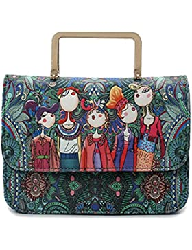 MSXUAN Damen Umhängetasche Herbst Trend von Drücken Messenger Taschen für Frauen Schultertasche