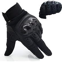 OMGAI Dedo Completa Guantes Tácticos Militares De Los Hombres De La De Nudillo Duro Para Airsoft Paintball Del Ejército De La Motocicleta Deportes Al Aire Libre Negro