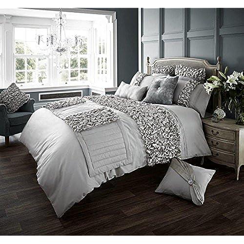 silver bedding quilt diamante set home co double bed premium luxury modern duvet black amazon slp uk designer cover store