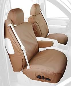 Covercraft Custom-Fit Front Bucket SeatSaver Seat Covers - Polycotton Fabric, Tan