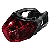 """Hama LED Fahrradlicht """"Profi"""" mit 3 LEDs (Rücklicht inkl. Batterie, Fahrradlampe Zugelassen im Straßenverkehr Nach StVZO, Abnehmbar) Rot"""