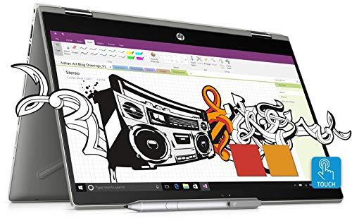 HP Pavilion x360 14 cd0055TX FHD Laptop(8th Gen i7-8550U/8GB DDR4/1TB HDD/16GB Optane/NVIDIA MX130 4GB Graphics/Win 10/MS Office H&S 2016) Mineral Silver