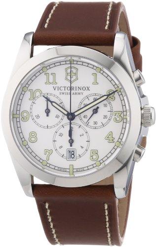 Victorinox Swiss Army 241568 – Reloj cronógrafo de cuarzo para hombre con correa de piel, color marrón