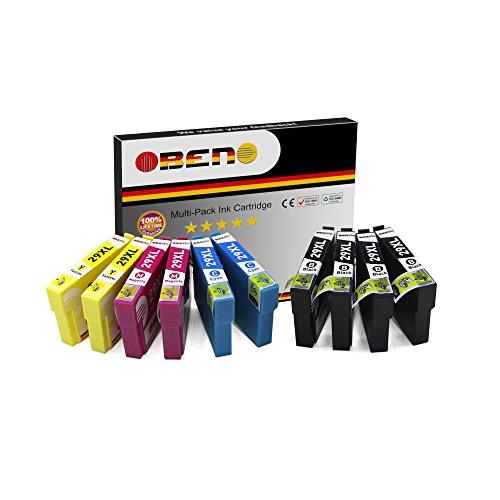 OBENO - 2 Sets 2 Bk - 29XL T29XL 10 Packs Kompatibel für Druckerpatronen Expression Home XP-235/245/247/332/335/342/345/432/435/442/445(T2991 4Schwarz, T2992 2Cyan, T2993 2Magenta, T2994 2Gelb) - Low Yield Black Toner