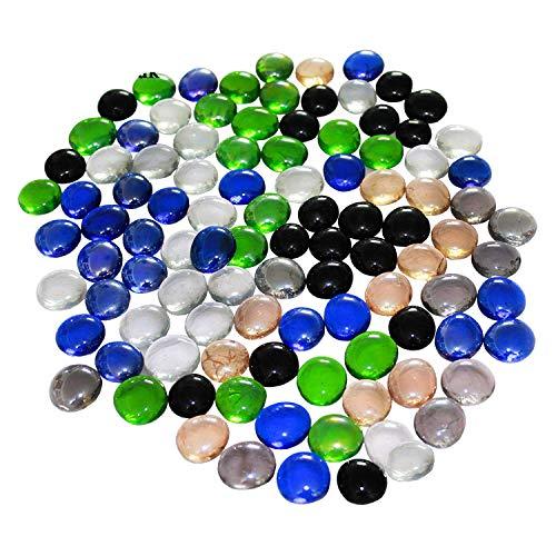 Glas Pebbles für Aquarium und Dekostück Mix colo- 200PCS (1kg) -
