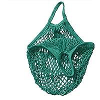 Bolsa de algodón orgánico bolsa de la compra cuerda de malla jooks verduras bolsa de red