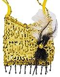 Charleston Pailletten Handtasche - Gold - Zauberhafte Party Umhängetasche zum 20er Jahre Gatsby Kostüm