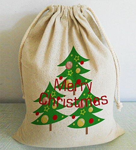 Feliz Navidad árbol Navidad yute sacos Extra grande