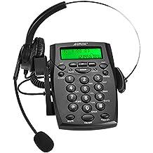 AGPtek - Business/Centro de llamadas Teclado Auricular Teléfono con tono Dial Key Pad & rellamar, color HA0021