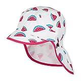 Sterntaler Schirmmütze für Mädchen mit Nackenschutz und Melone-Motiv, Alter: 12-18 Monate, Größe: 49, Mehrfarbig