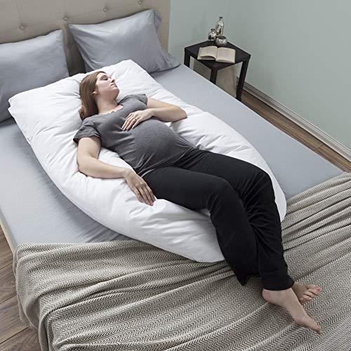 K&G Schwangerschaftskissen Zum Schlafen -seitenschläferkissen Schwangerschaftsunterstützung U Kissen Körper Stillen Stillkissen Frauen/männer Mit Abwaschbarem Baumwollbezug 145x70cm