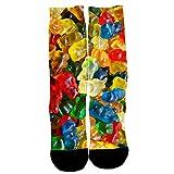HEETEY Socken,Mode Lässige Baumwollsocken Fruchtmuster 3D gedruckte Socken Design Medium Rohrsocken Persönlichkeit Sport Socken