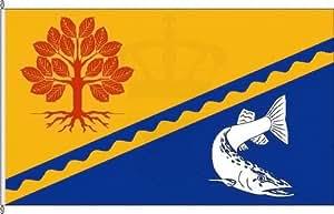 Königsbanner Tischfähnchen Kükels - Tischflaggenständer aus Chrom