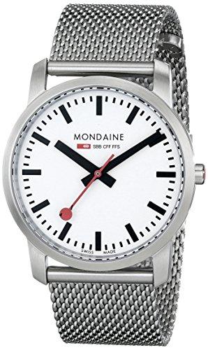 Mondaine - A672.30351.16SBM - Montre Homme - Quartz Analogique - Bracelet Acier Inoxydable Argent