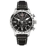 Nautica A15535G - Reloj, correa de cuero color negro