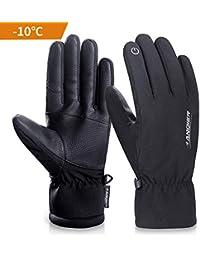 7bcc3bd41aed2d coskefy Winterhandschuhe Herren Damen Touchscreen Warm Skihandschuhe  Kältebeständig Thermische 3M Baumwolle Winddicht…