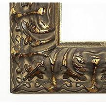 Marcos de cuadros Praga negro/oro 7.2 - 100 x 140/100 x 140 cm - 4 niveles de acabado se puede elegir, vidrio, negro, 100 x 140 cm