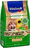 Vitakraft alimento per criceti, equilibrato Completo Miscela con pepite di Verdura, Emotion Pure Nature Veggie
