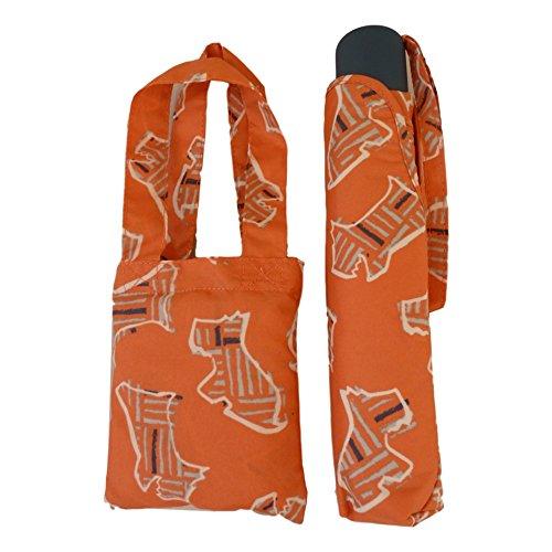 Price comparison product image RADLEY 'Kenwood' Orange Telescopic Umbrella & Foldaway Shopper Bag - RRP £39