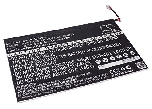 CS tablet Akku,Li-Polymer 3.7V 6700mAh / 24.79Wh passend fuer [Medion] LifeTab P9516,LifeTab P9514,S9512,P9516,P9514,Lifetab S9512,MD99200,ersetzt [Medion] UP110005,40042073,AE2865B33