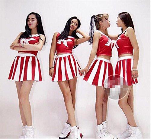 Girl's Cheerleader Kostüm / Frau Gruppe Tanz / Bühne Tanz Show / Cheerleader Anzug , (Tanz Kostüme Gruppe Für)