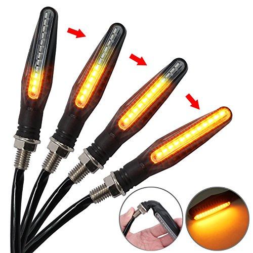 Proster MY214, Indicatori di direzione a LED, impermeabili, DC 12V, Nero, 4 Pezz