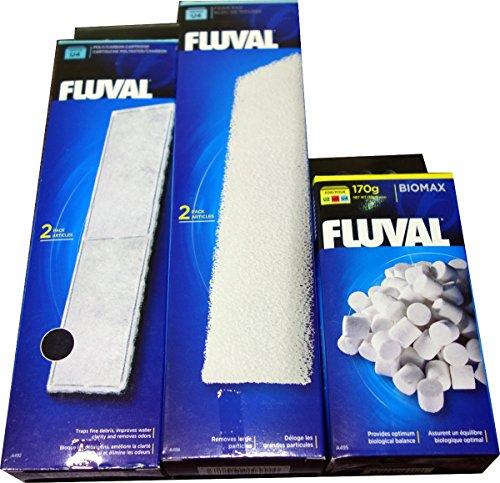 Carbon Filter Media (Fluval A492Poly/Carbon + A488Schaumstoffkissen + A495Biomax U4Filter-Media-Set (A492Poly/Carbon + A488Schaumstoff + A495BioMax U4Media))