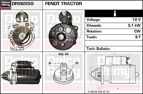 DELCO REMY DRS6550 Motorino d'avviamento