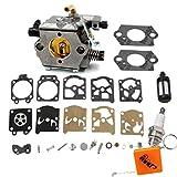 HURI Vergaser mit Reparatursatz Kit für Stihl 024 024AV 026 MS260 MS240 Walbro WT-194